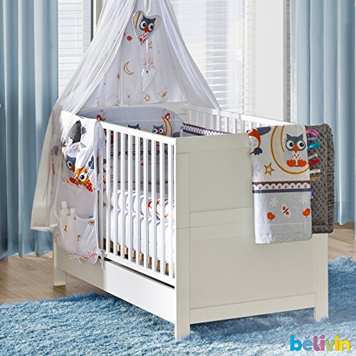 Belivin Babybett umbaubar zum Juniorbett besonders stabil durch ...