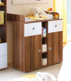 wickelkommode milu farbe walnuss wei baby helden. Black Bedroom Furniture Sets. Home Design Ideas