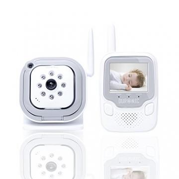 Duronic B101W Drahtloses Babyphone-Set mit Video- und Überwachungskamera und integrierte Nachtsicht - 250m Reichweite -Weiß -