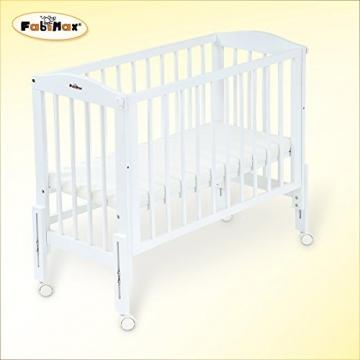 fabimax beistellbett pro wei mit matratze und nestchen baby helden. Black Bedroom Furniture Sets. Home Design Ideas
